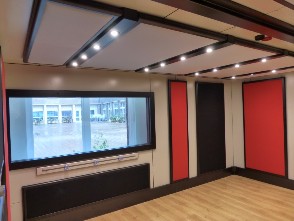 Large studio window to allow natural light, whilst retaining those high sound transmission classes