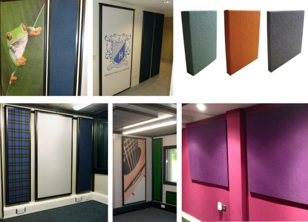Absorption panels plain and printed