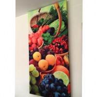 fruit printed panel