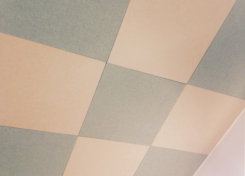 Acoustic treatment panels close up