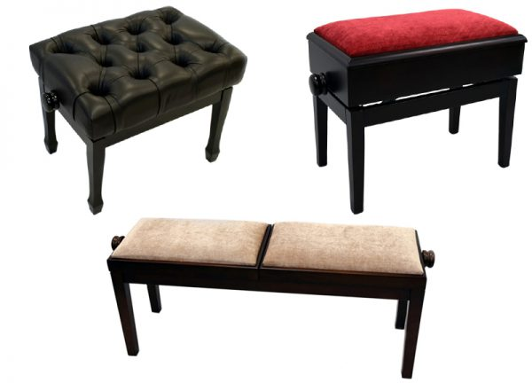 Amadeus piano stool range in solo and duet options