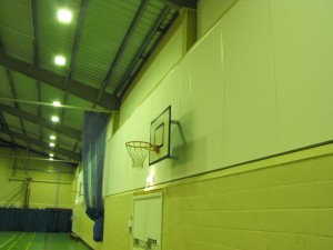 Acoustic panels in Gym