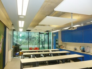 One large classroom with Acoustic Panels