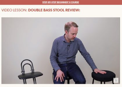 Bass stool review by Geoff Chalmers of discoverdoublebass.com